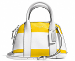 COACH BLEECKER MINI PRESTON SATCHEL IN STRIPED COATED CANVAS- Breezing Through