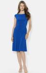 Lauren Ralph Lauren Flared Jersey Dress-Breezing Through