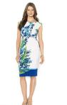 Lauren Ralph Lauren Cap-Sleeve Floral-Print Dress- Breezing Through
