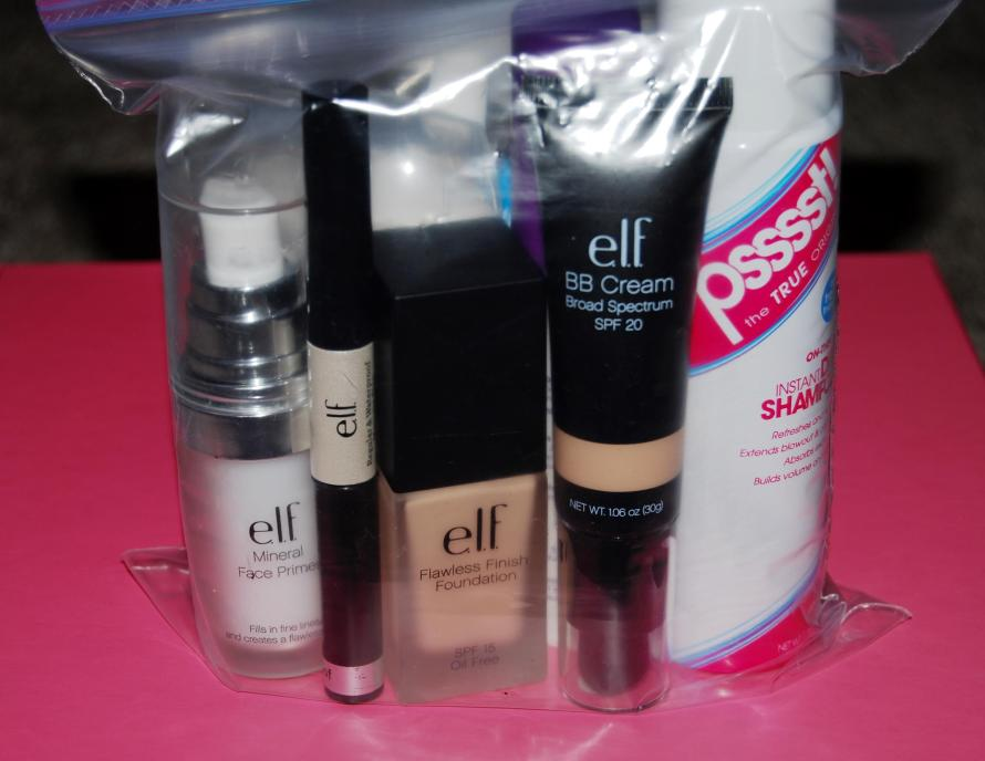 makeup in baggie