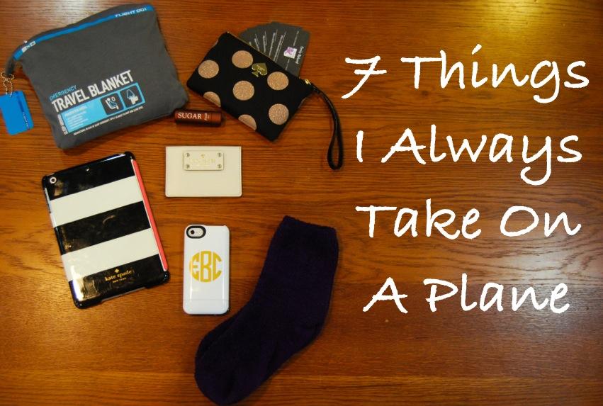 7 Things I Always Bring On A Plane   Breezing Through