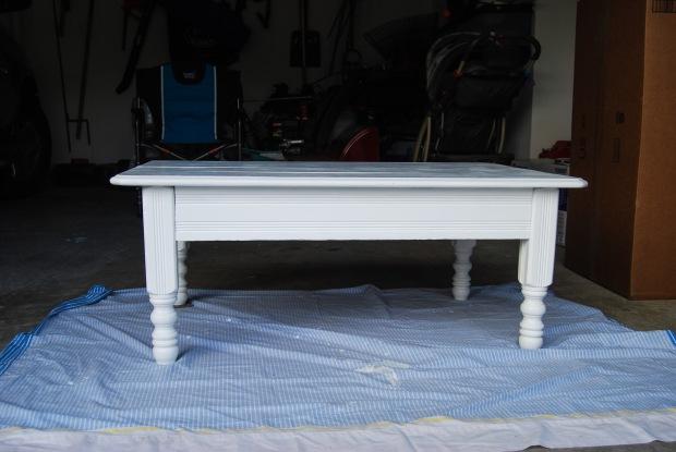 DIY Friday: Desk redo into Coffee Table | Breezing Through